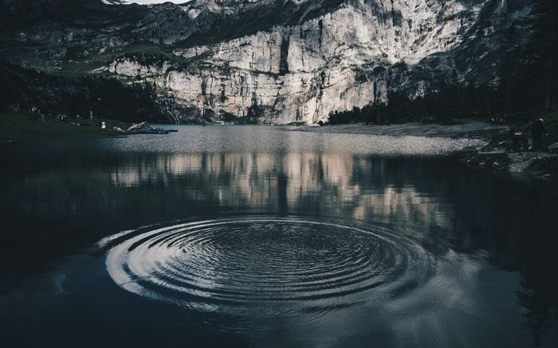 droplet of water in a river