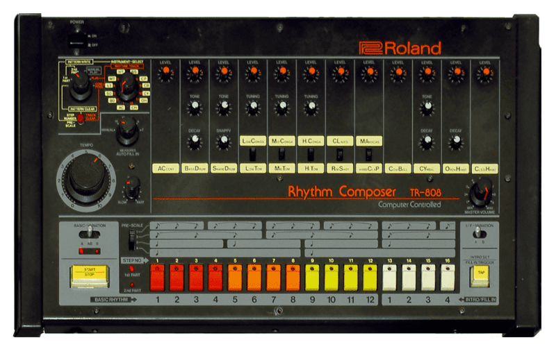 808 front view image - How to use an 808
