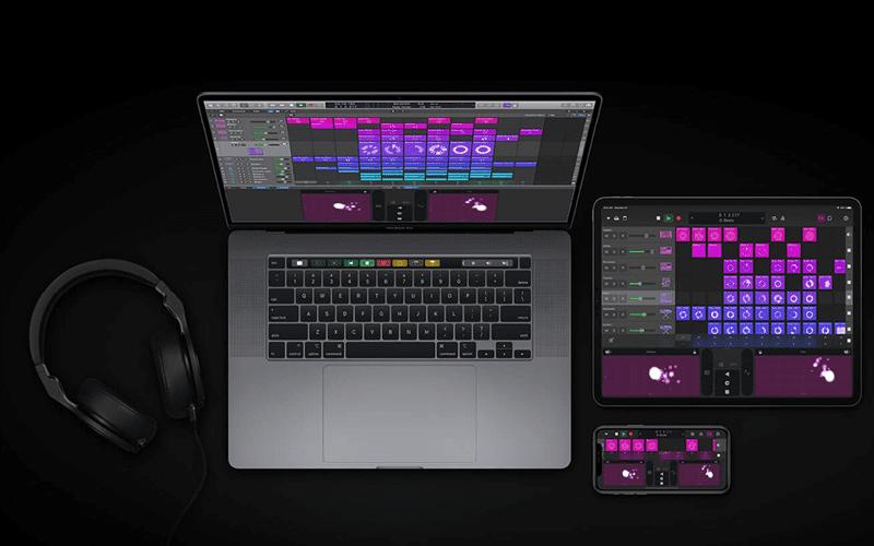Logic Pro X on Macbook, iPad and iPhone