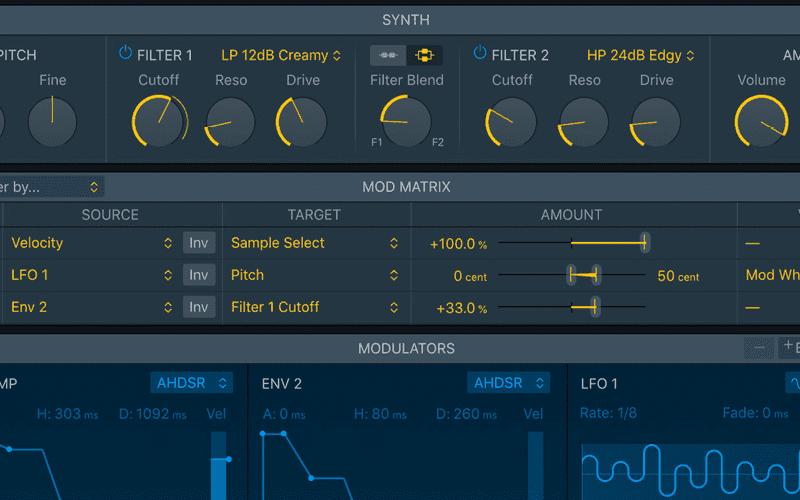 Logic Pro X new sampler screenshot