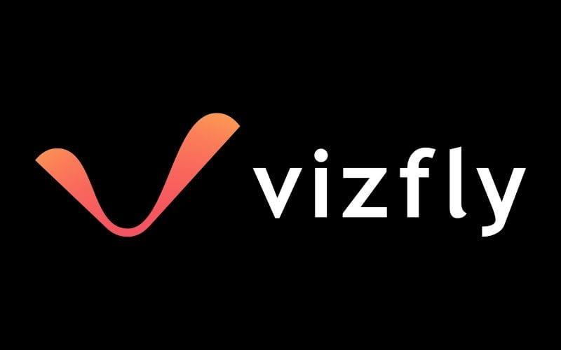 Vizfly logo on black from Tunebat