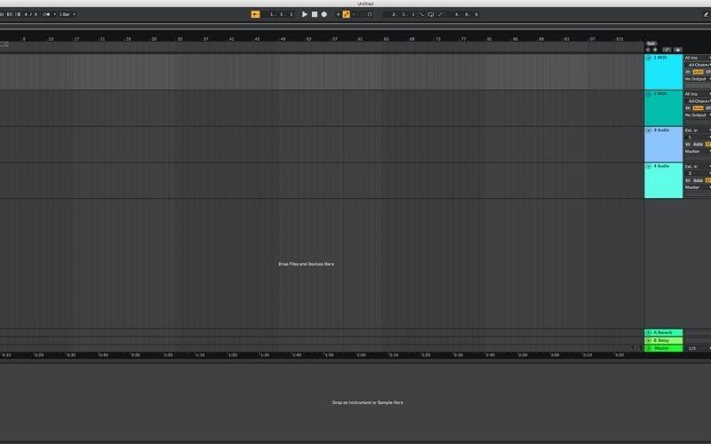 Default project template Ableton Live