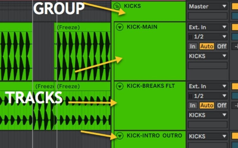 groups and tracks ableton