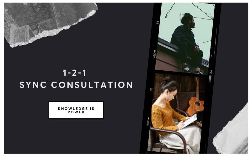 1-2-1 music licensing consultant service