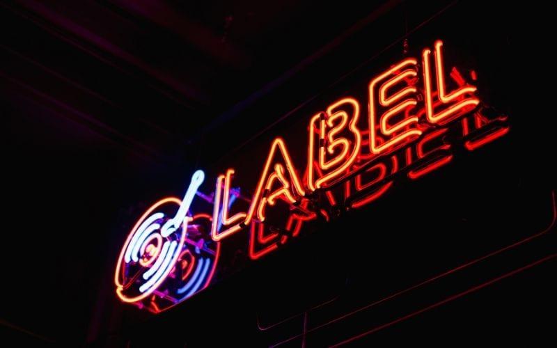 record label neon sign