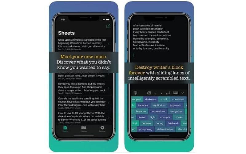 word palette songwriting apps