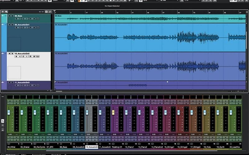 colour mixer channels cubase