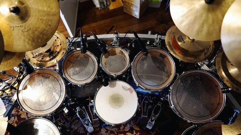 drum kit birds eye view