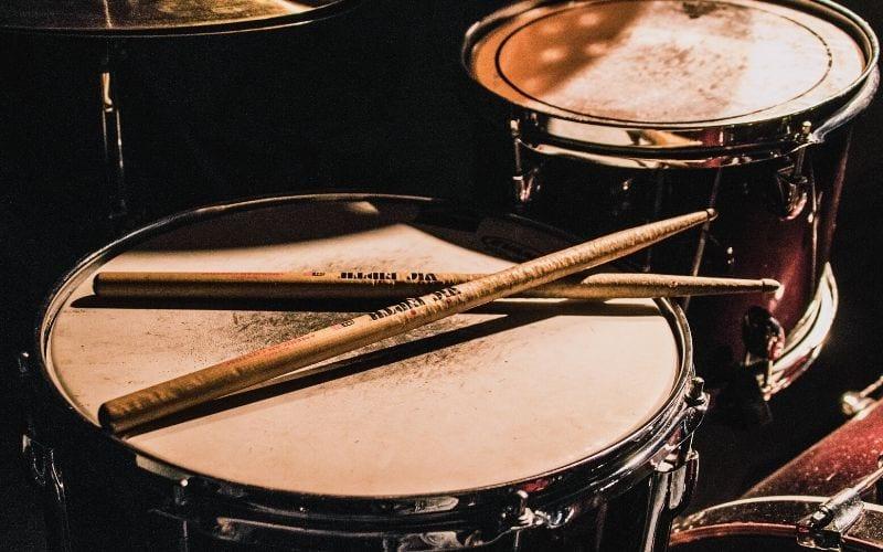 Drumsticks on a snare drum