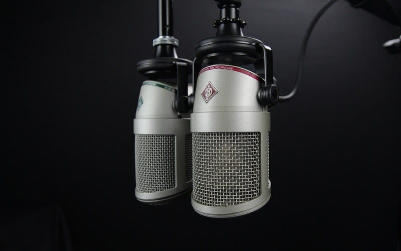 recording mic in black toom for BBC radio 6 music
