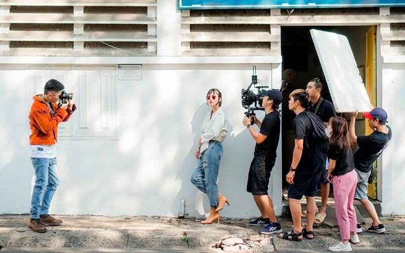 shooting music video