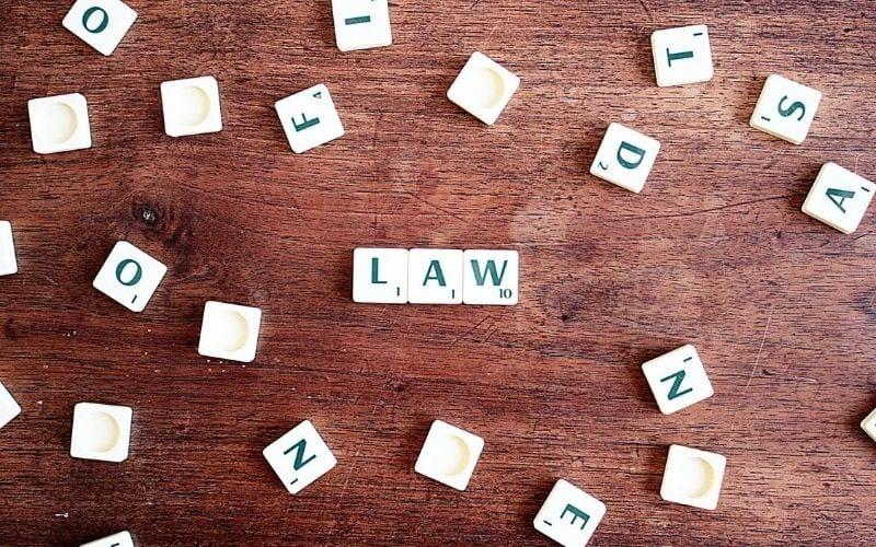 scrabble letters spelling law