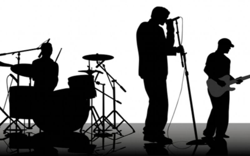 band performing music