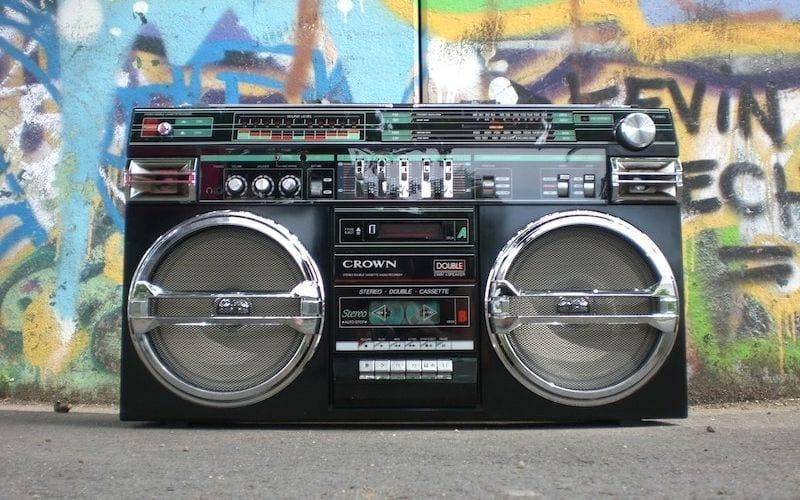 music boom box