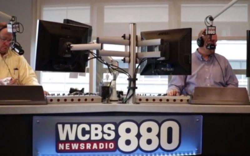WCBS radio studio