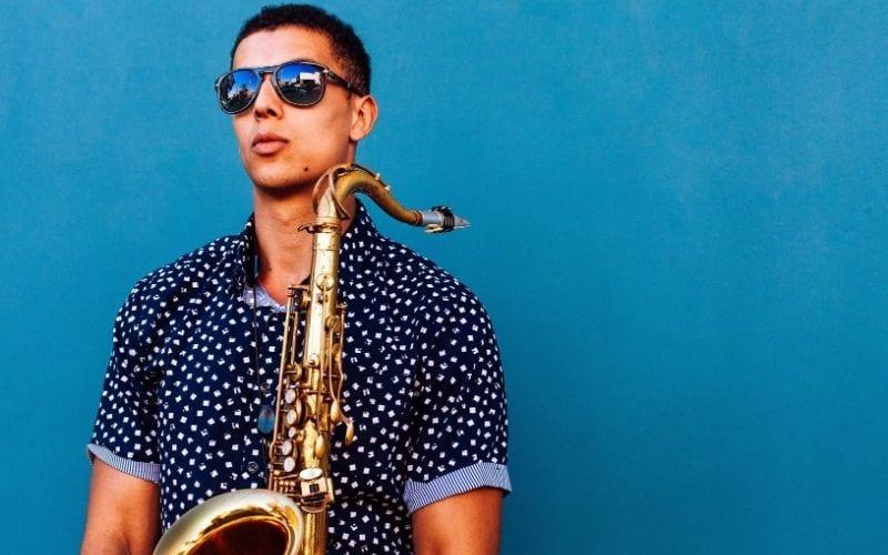 man with saxophone BandCamp