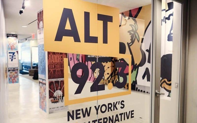 ALT 92.3 radio station office