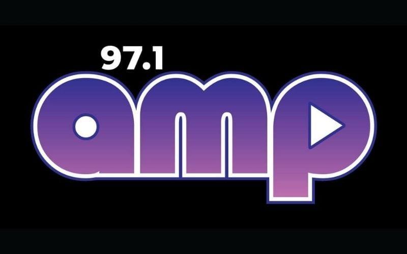 97.1 amp radio station logo