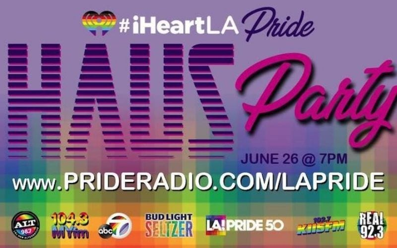 iheart pride haus party poster