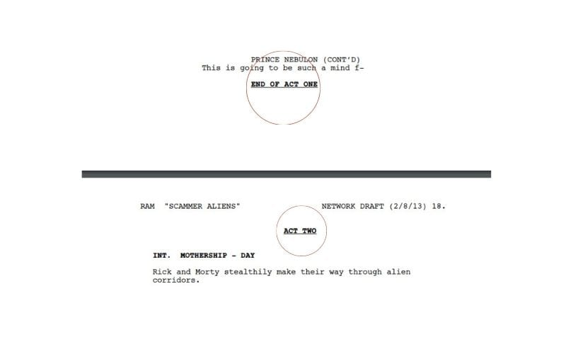 act breaks within a script