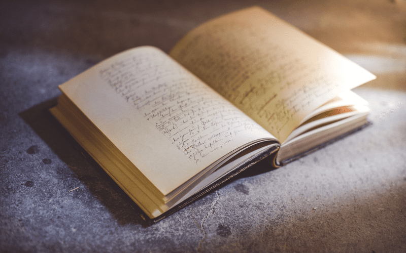 writing a script in a book