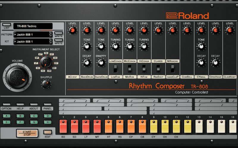 roland 808 drum machine
