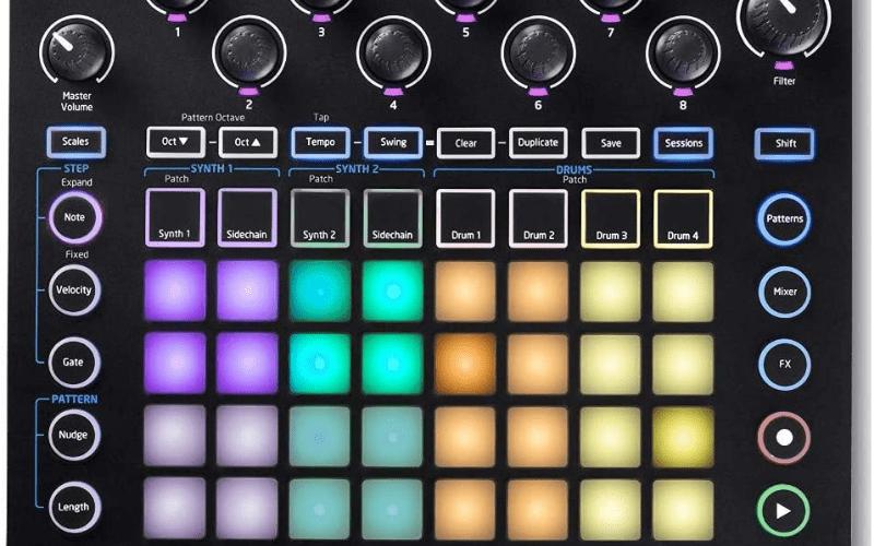colourful drum machine