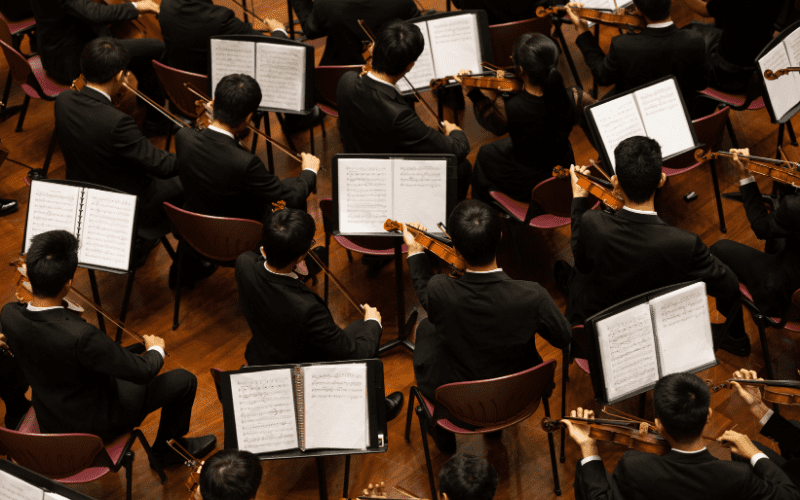 orchestra creating a melody
