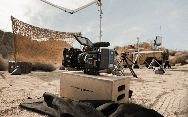 camera on a film set