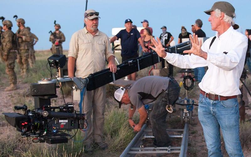 directing crew on set