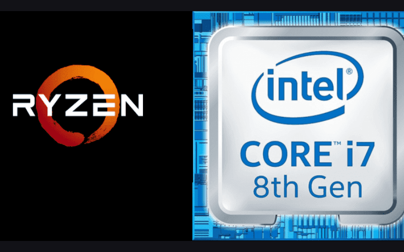 ryzen and intel core i7 8th gen