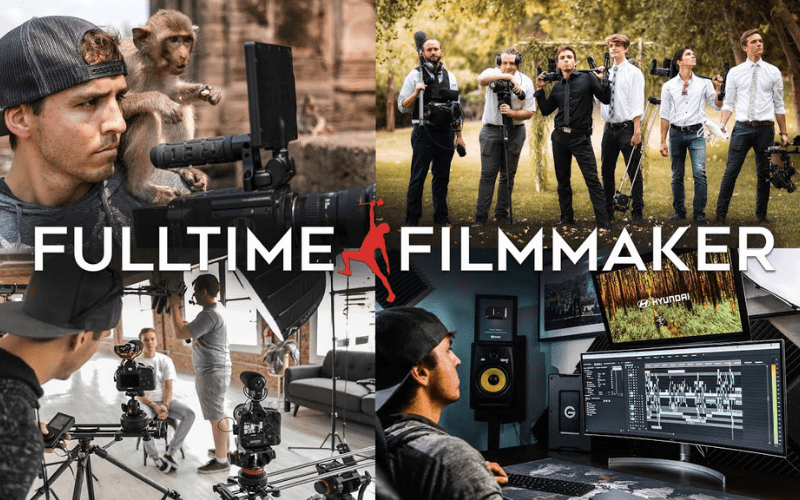 full time filmmaker online course poster