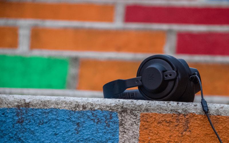 headphones listening to audio network music
