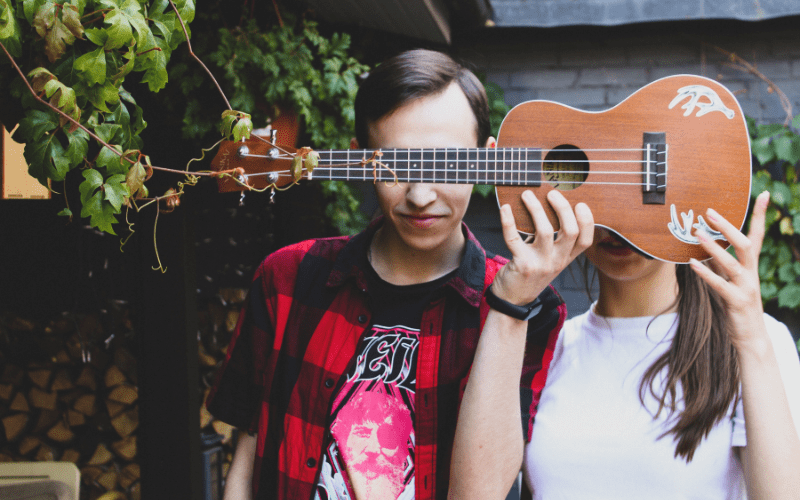 boy and girl with ukulele