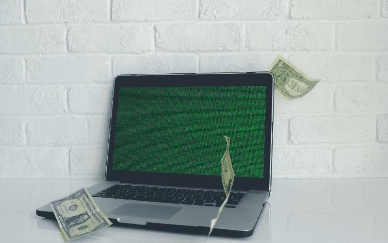 money on computer