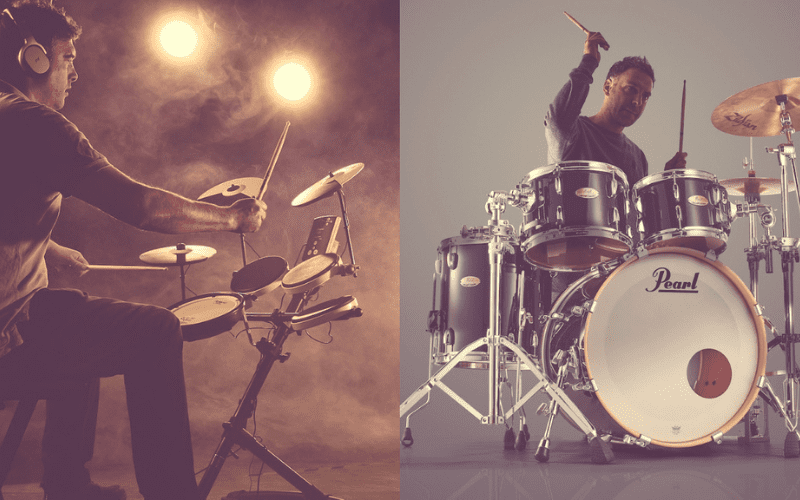 acoustic drum kit vs electronic drum kit