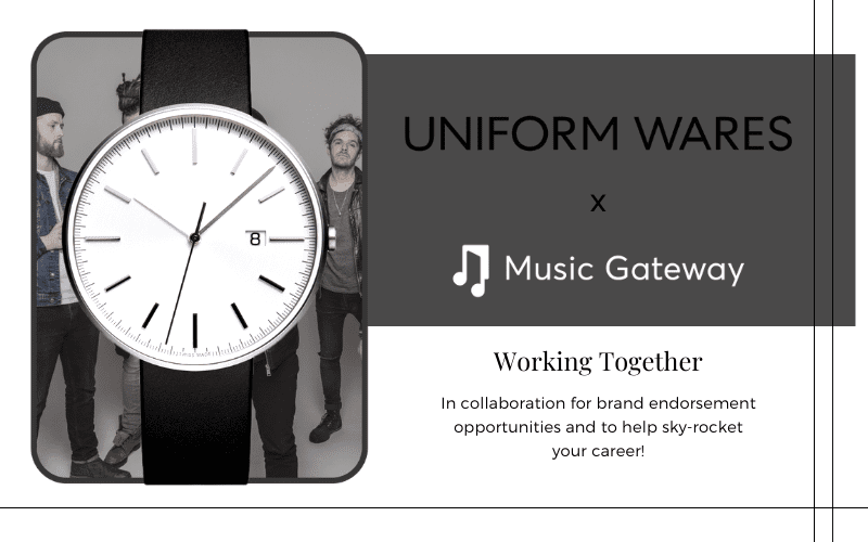 collaboration with uniform wares watch brand
