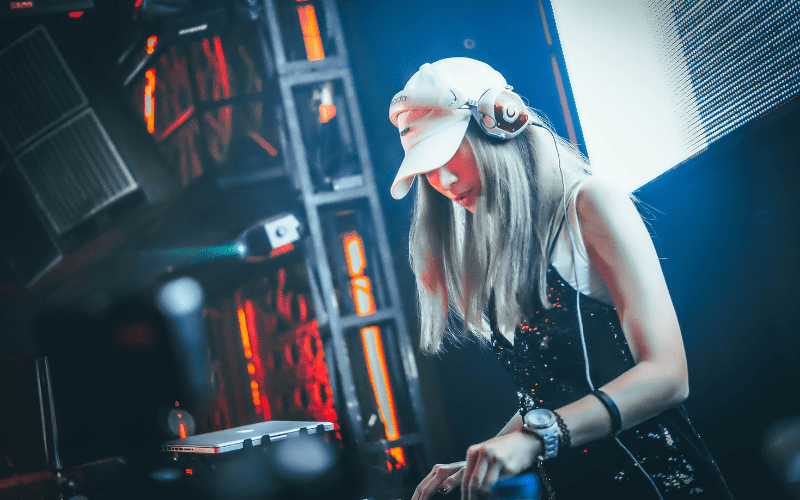 girl Mixing Music