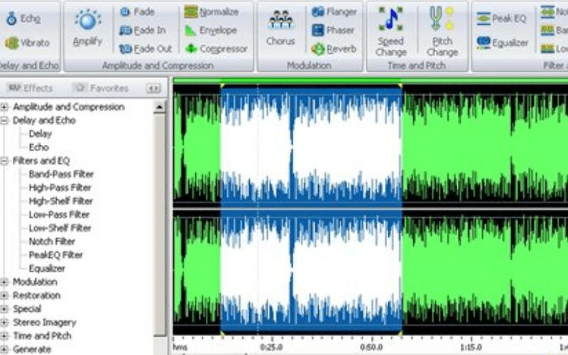 FAE media free audio editor