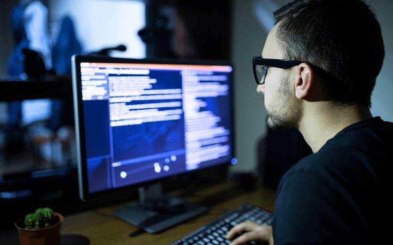 man designing on computer