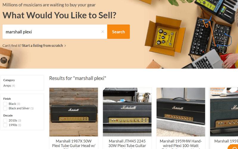 reverb.com website