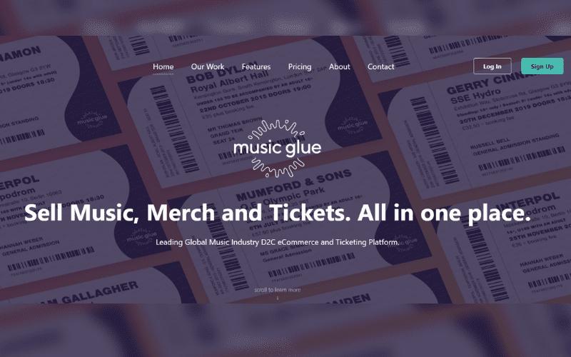 musicglue.com website