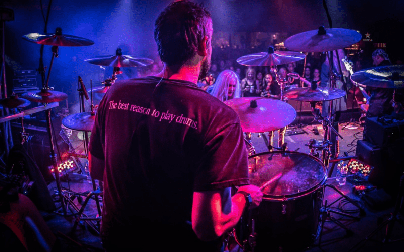 drummer on stage performing