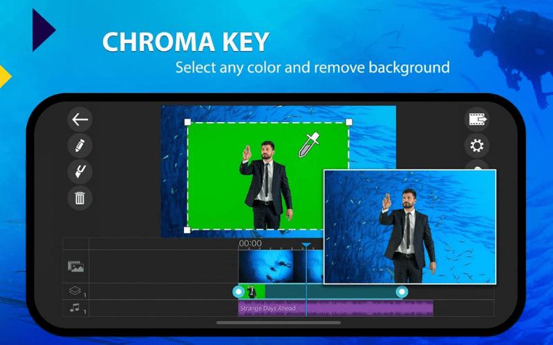 Chroma key app logo