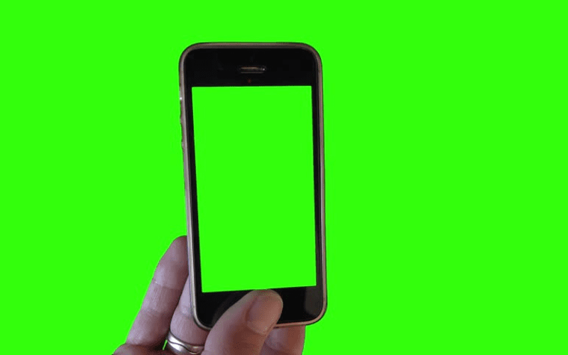 Green screen on phone