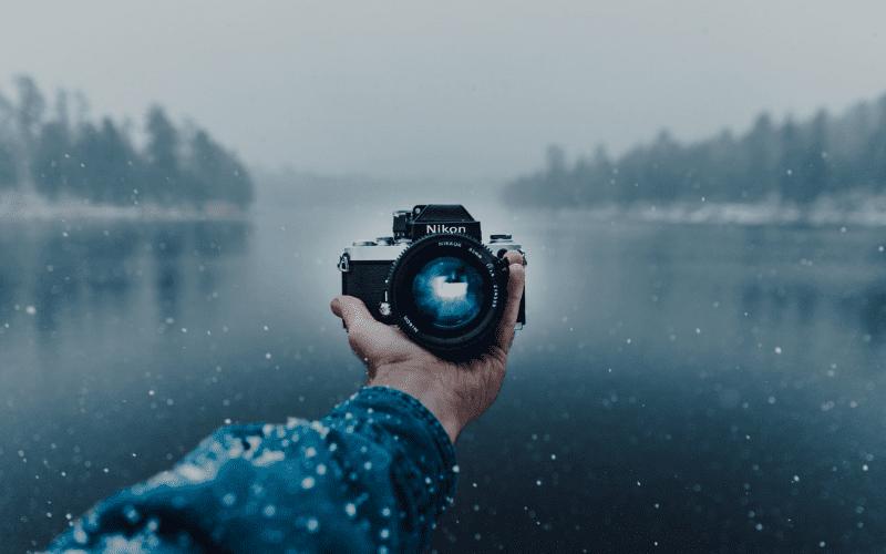 Professional camera nature background
