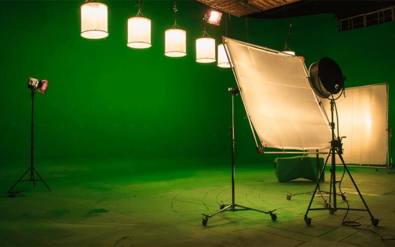 Green screen being used in studio