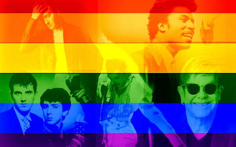 LGBTQ music artists with rainbow flag