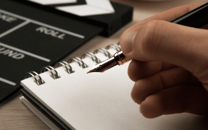 pen and paper how to write a character study