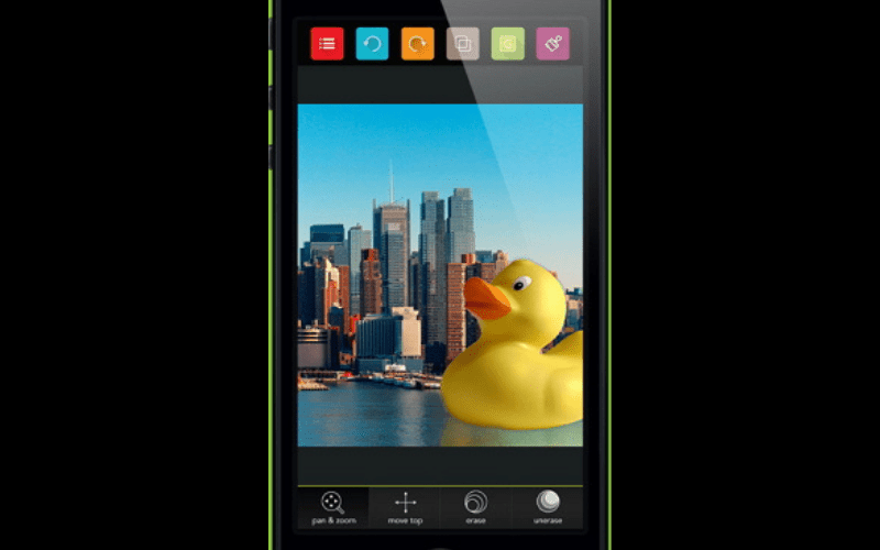 Green screen app logo